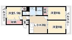愛知県名古屋市南区平子2丁目の賃貸マンションの間取り