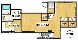 サボハウス[0203号室]の間取り