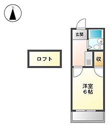 グランディア志賀本通[2階]の間取り