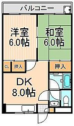 コーポTANAKA[3-D号室]の間取り