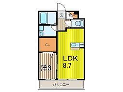 メゾンクレールIII[2階]の間取り