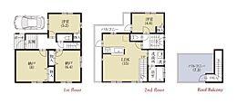 A区画プラン建物価格1730万円、建物面積92.19?