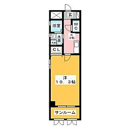 リューデスハイム[2階]の間取り