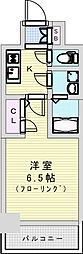 おおさか東線 JR淡路駅 徒歩7分の賃貸マンション 6階1Kの間取り