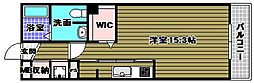 シャーメゾン桜 2階1Kの間取り