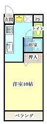 ハピネスタカラII[2階]の間取り