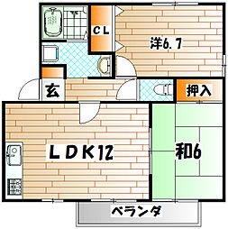 ウィステリア中吉田II A棟[2階]の間取り