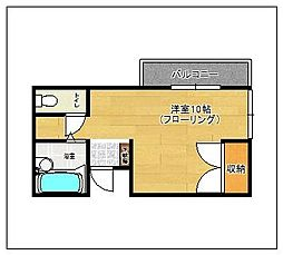 サニーハイム田島[303号室]の間取り