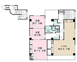 豊玉北4丁目賃貸計画 3階3LDKの間取り