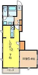 璃宮館[1階]の間取り