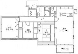 門倉邸[1F号室]の間取り