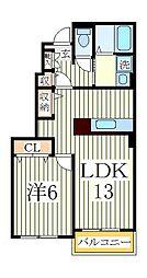 サン コリーヌ[1階]の間取り