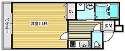 フジパレス中加賀屋II番館[102号室]の間取り