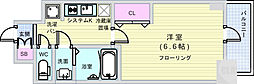 Osaka Metro谷町線 四天王寺前夕陽ヶ丘駅 徒歩7分の賃貸マンション 13階1Kの間取り