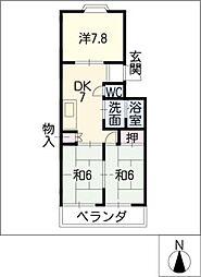 レジデンス新清洲[3階]の間取り