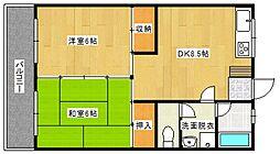 松田コーポ[3階]の間取り