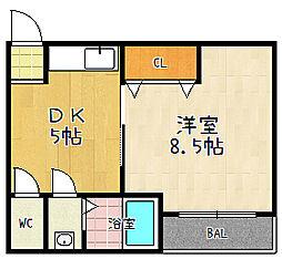ハイツ琉雅荘[2-B号室]の間取り