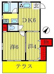 セジュール東和A[1階]の間取り