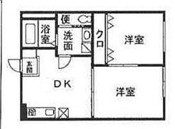 サンボナールB[2階]の間取り