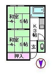 田口荘[1階]の間取り