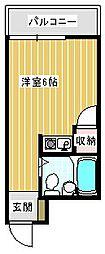 ロレーヌ住之江[305号室]の間取り
