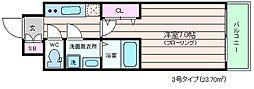 ジュネーゼロイヤルレジデンス梅田東[4階]の間取り