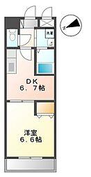 東京都足立区北加平町の賃貸マンションの間取り