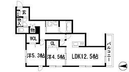 ソラーレ南[2階]の間取り
