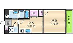 寺田町ハイツ[207号室]の間取り