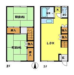 [テラスハウス] 埼玉県さいたま市中央区上峰4丁目 の賃貸【/】の間取り