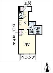 PONTE ALTO 新栄[7階]の間取り