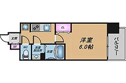 JR大阪環状線 天満駅 徒歩8分の賃貸マンション 3階1Kの間取り
