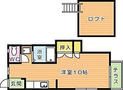 シティベール浅川II[1階]の間取り