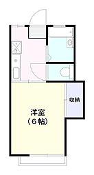 ジュネス28 B棟[105号室]の間取り