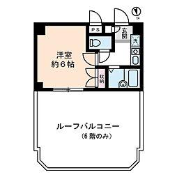 アセンズシティ2[6階]の間取り