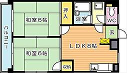 シャトレ新高II[5階]の間取り