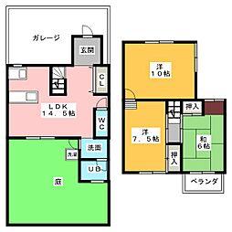 [一戸建] 愛知県名古屋市中川区中郷3丁目 の賃貸【/】の間取り