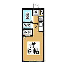 プレジール黒松[2階]の間取り