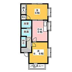 ホワイトキャッツC棟[1階]の間取り