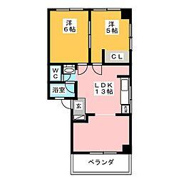 富士高マンション[2階]の間取り