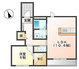 ビセスティーレ[1階]の間取り