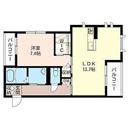 オークヒルズさいたま新都心[2階]の間取り