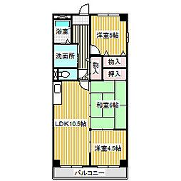 愛知県名古屋市中川区昭和橋通6の賃貸マンションの間取り