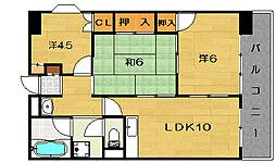 津崎マンション[3階]の間取り