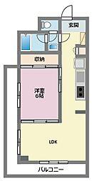 神奈川県横浜市鶴見区市場上町の賃貸マンションの間取り