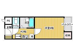RX富田林[2階]の間取り