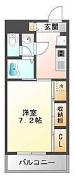 リブリ・江坂[2階]の間取り