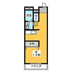 ADアパート[3階]の間取り