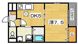 タンドルマン 1階1DKの間取り