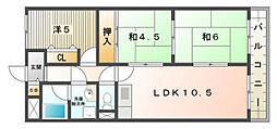 クーリエ70[3階]の間取り